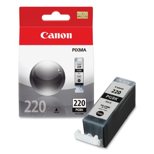 - Canon PGI-220 Ink Tank in Retail Packaging-Black