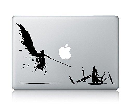 Cloud VS Sephiroth Final Fantasy VII Advent Children Laptop Vinyl Skin Sticker Decal Apple Mac Air Pro Laptop Skin Decal Sticker (Macbook Air 11 Inch Vs Surface Pro 4)