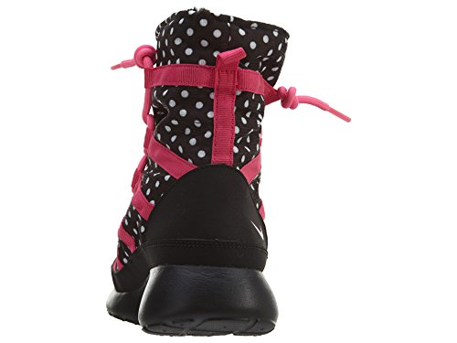 Hi One Pink Pow Print Youth Black Nike Roshe Boots Girls White Vivid Pink Sneaker xISvt