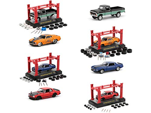 Model Kit 4 Piece Car Set Release 27 1/64 Diecast Model Cars by M2 Machines 37000-27