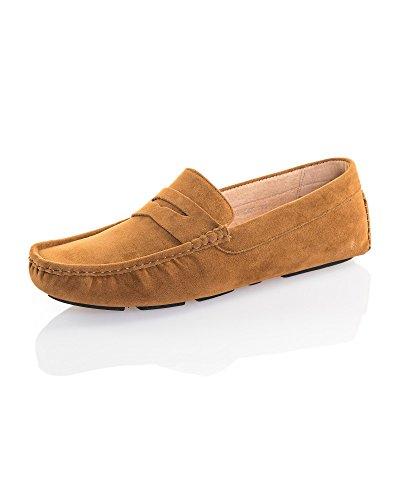 Reservoir Shoes Mocassin Camel Effet Daim Homme Marron