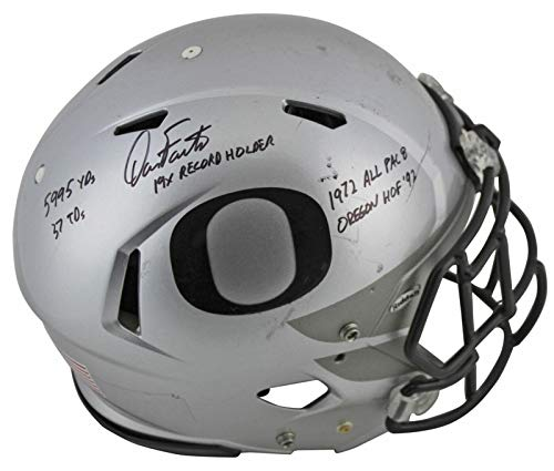 """Dan Fouts""""5x Inscribed"""" Signed Game Used 2016-18 Proline F/S Helmet BAS #P81201 - Beckett Authentication -  Bell Sports Marketing, 401848307284"""