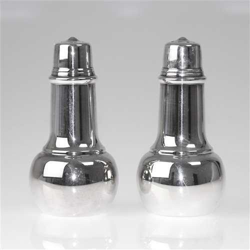 (Salt & Pepper Shakers by International, Silverplate)