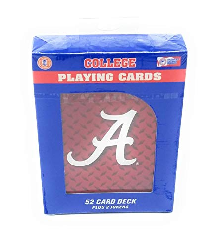 NCAA Alabama Crimson Tide Diamond Plate Playing Cards, One Size, Team Colors Alabama Crimson Tide Playing Card