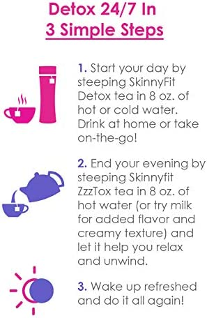 SkinnyFit Detox and ZzzTox 24/7 Bundle, 56 Servings, Supports Weight Loss, Helps Calm Bloating, All-Natural, Laxative-Free, Green Tea Leaves, Help Fight Toxins and Relieve Stress 3