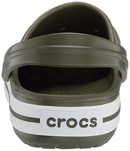 white Zoccoli Green Crocband Crocs Unisex 37p army Verde Adulto U q8wwE0A