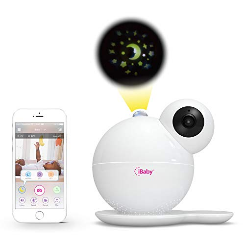 iBaby Wifi Baby Monitor 1080P Wireless Video Camera with Early Education, Thousands of lullabies, Motion and Cry Alert, Temperature & Humidity Sensors, Air Sensors, Moon Light for Android & IOS