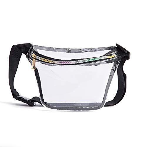 79f61fbab153 Holographic Cool Style Transparent fanny pack For Women Girls 80s Festival  Rave Personality Fashion Waist Belt bag-TPU Transparent