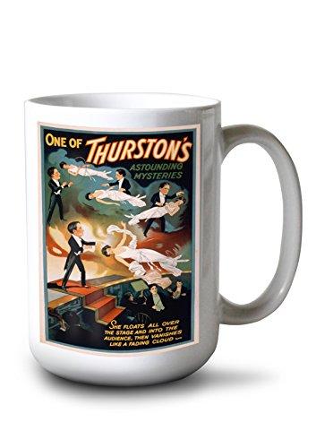 Lantern Press Thurston's Astounding Mysteries Magic Poster (15oz White Ceramic ()