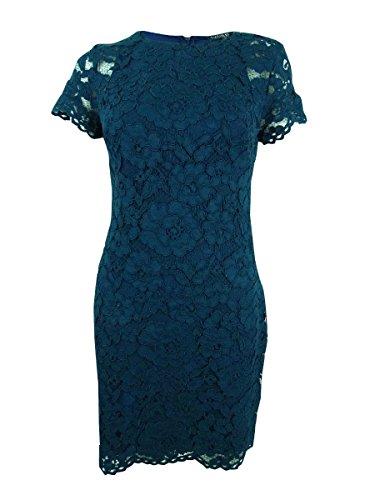 Lauren Ralph Lauren Women's Petite Lace Sheath Dress (8P, Green) by Lauren by Ralph Lauren