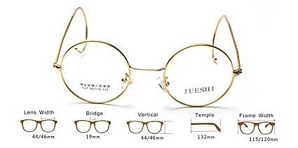 588a564e27 Amazon.com  Vintage Cable Temple Round Eyeglass Frame Spectacles Rx Retro  Mens Women Kids (Gold
