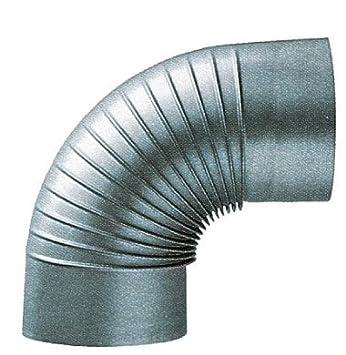 codo 90 grados galvanizado galvanizado para estufa D.20: Amazon.es: Bricolaje y herramientas