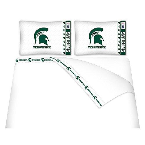 NCAA Michigan State Spartans Micro Fiber Sheet Set, Twin