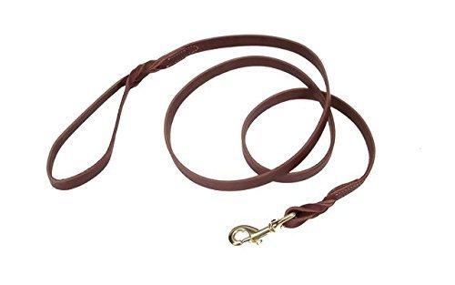 Coastal Pet Products Circle T Leather Twist Dog Leash with Solid Brass Hardware, 3/4 x 6', Latigo by Coastal Pet (Leather Twist Latigo)