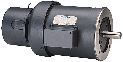 Leeson 114159.00 TEFC C Face Brakemotor, 3 Phase, 56C Frame, Round Mounting, 1/2HP, 1800 RPM, 208-230/460V Voltage, 60Hz Fequency by Leeson