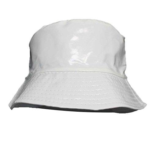 White Crushable Bucket Style Rain Hat (Bucket Style Rain Hat)