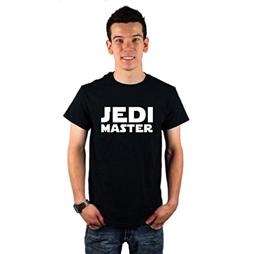Men's Jedi Master Star Wars Inspired T-Shirt Large Black
