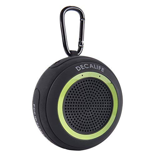 DECALIFE ST-1 Green Portable Bluetooth Speaker - IPX7 Waterproof Floating with TWS True Wireless Stereo Sound, Micro SD/TF Card Slot for MP3 - Versatile Mega-Bass for Shower, Pool, Home, Indoors