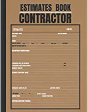 Estimate Book Contractor: Log book to record client details/ job quotes / estimates|Contractor notebook Organizer| Record Book| Complete with dot grid diagram / measurement pages| A4