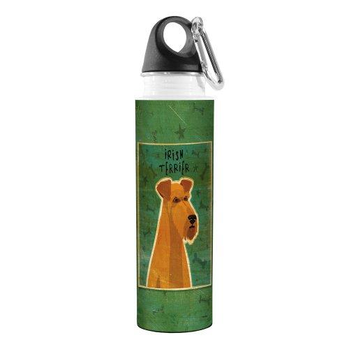 Irish Water Terrier (Tree-Free Greetings VB47994 John W. Golden Artful Traveler Stainless Steel Water Bottle, 18-Ounce, Irish Terrier)