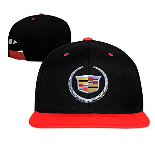 HOIUK Cadillac Logo Nice Hip-hop Caps For Everyone Red caps ()