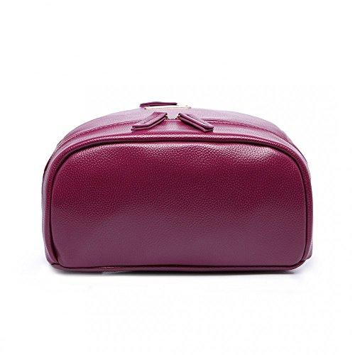 Miss Lulu aspecto de piel grande mochila trabajo bolsa de escuela morado