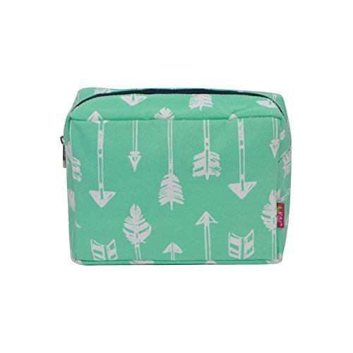 N. Gil Large Travel Cosmetic Pouch Bag 2 (Arrow Mint Green) ()