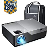 "VANKYO Performance V600 Native 1080P LED Projector, 6000 Lux HDMI Projector with 300"" Display Compatible with TV Stick, HDMI, VGA, USB, Laptop, iPhone Android for PowerPoint Presentation"