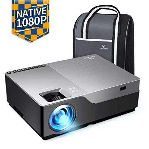 """VANKYO Performance V600 Native 1080P LED Projector, 6000 Lux HDMI Projector with 300"""" Display Compatible with TV Stick, HDMI, VGA, USB, Laptop, iPhone Android for PowerPoint Presentation"""