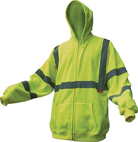 Class III Reflective High Visibility Hooded Sweatshirt - Medium