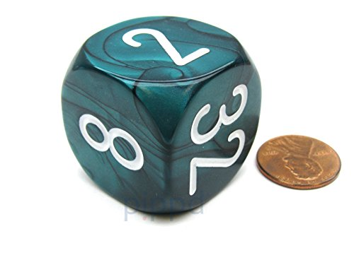 16mm quEmpire Gaming Metal Backgammon Doubling Cube Dice Gold Color