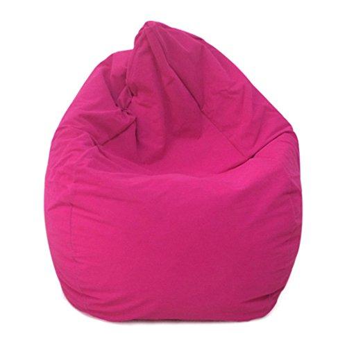 (Dingtuo Bean Bag Removable Fleece Cover Bean Bag Chair Soft Memory Foam Bean Bag Sofa Rose Red)