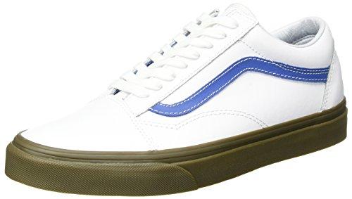 Vans Unisex Old Skool (bleacher) Skate Shoe Trwht / Delft / Gum