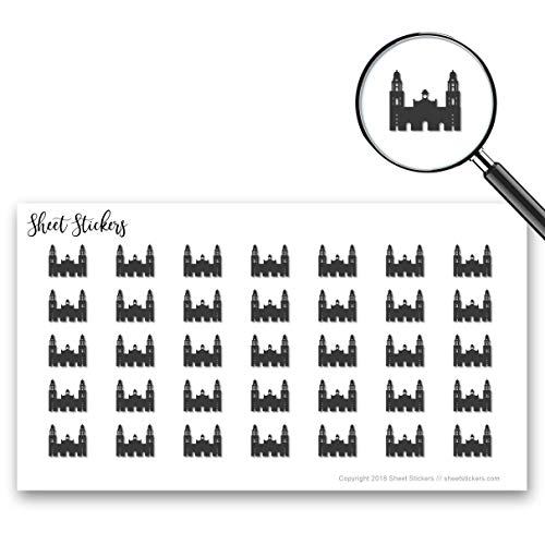 Metropolitan Cathedral of Mexico City Spain Mexico Money, Sticker Sheet 88 Bullet Stickers for Journal Planner Scrapbooks Bujo and Crafts, Item 987260