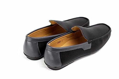 Deck Barco On Deslizarse Zapatos CABALLEROS diario de Negro 4tqZpW