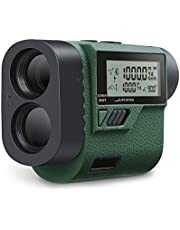 Huepar HLR1000 Golf Entfernungsmesser 1000M/1100Yards mit Handheld LCD Display und Winkelfunktion, 6X Multifunktionaler Rangefinder Lasermessgerät für Entfernung, Geschwindigkeit, Winkel, Höhe Messung