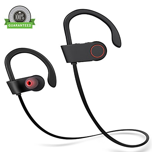 Amoner Wireless Headphones, Bluetooth V4.1 Wireless Sports Earbuds Sweatproof In-ear Headsets with Microphone Noise-Cancelling for iPhone,iPad,Samsung and Bluetooth Devices