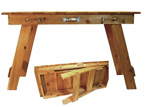 Cedar Portable Folding Grill/Craft Table by Timber Jacks Woodshop