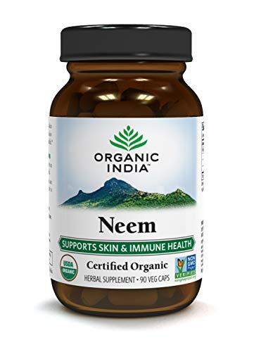 Organic India NEEM, 90-Count (Best Gout Fighting Foods)