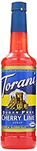 Torani Sugar Free Syrup, Cherry Lime, 25.4 Ounce (Pack of 4)