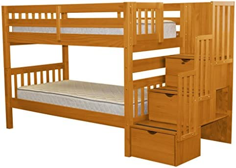 picture of Bedz King Stairway Bunk Beds Twin over Twin - 3