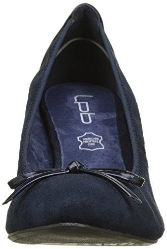 Punta Muguet Tacón Para Bleu navy P'tites De Zapatos Mujer Les Cerrada Con Bombes nTB1wCEExq