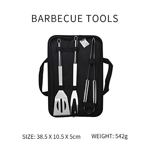 Zallada-ToolBBQ of Home BBQ Tool Set Stainless Steel BBQ Tools Set Barbecue Cooking Utensil Set BBQ Grill Tool Kit Storage Bag Outdoor Camping Grill Accessories BBQtools