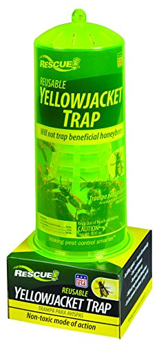 RESCUE Non-Toxic Reusable Trap for Yellowjackets (Best European Wasp Bait)