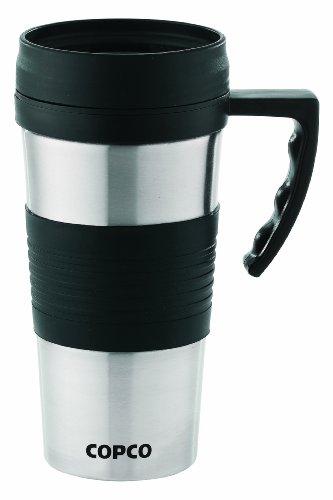 Copco Terra Brushed Stainless Travel Mug, 14-Ounce