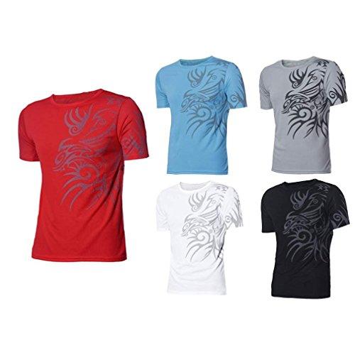 Mens Shirt,Haoricu 2017 Clearance Men Sports Short Sleeve Slim Fit T-Shirt