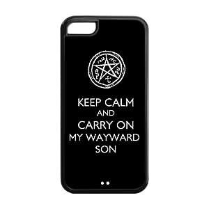 LeonardCustom Protective Hard Snap On TPU Rubber Phone Case for iPhone 5C , Supernatural
