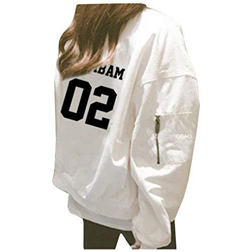 Cerniera Eleganti Primaverile Lunga Cappotto Alta Autunno Moda White 1 Giaccone Digitale Outerwear Prodotto Stampate Giubbino Donna Di Casual Chic Qualità Cute Manica Con Sciolto Plus xnq1I7T