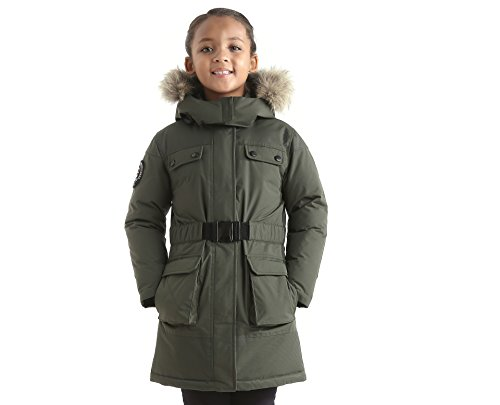 Triple F.A.T. Goose Arkona Girls Down Jacket Parka With Real Coyote Fur (7, - Store Montclair