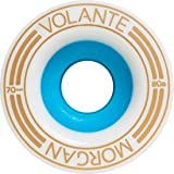 Volante Morgan 1mm Off-Set 70mm 80a White/Blue Wheels (Set Of 4)